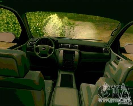 GMC Yukon Denali 2007 para GTA San Andreas vista hacia atrás