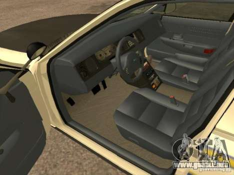 Ford Crown Victoria 2003 Police para GTA San Andreas vista posterior izquierda