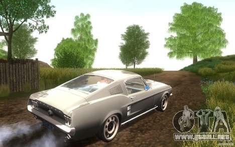 Ford Mustang 1967 American tuning para GTA San Andreas vista hacia atrás