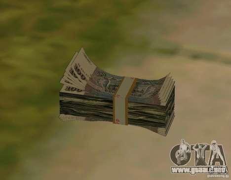 Rublos, junto con dólares para GTA San Andreas