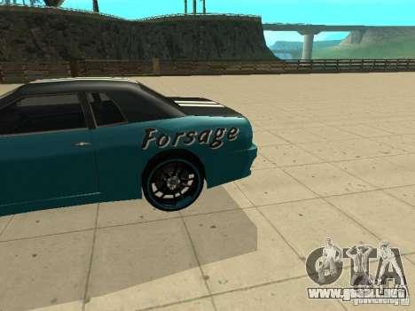 Elegy Forsage para GTA San Andreas vista posterior izquierda