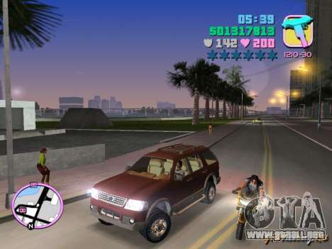 Ford Explorer para GTA Vice City left