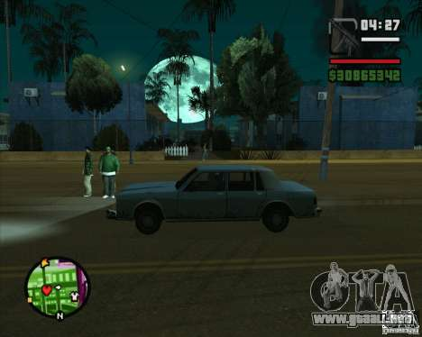 Luna para GTA San Andreas segunda pantalla