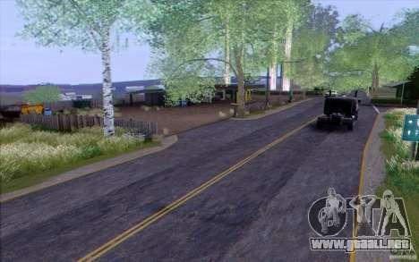 Campo HQ para GTA San Andreas sucesivamente de pantalla