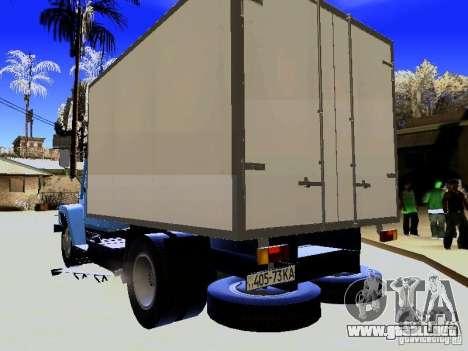 GAZ 3309 para GTA San Andreas vista posterior izquierda