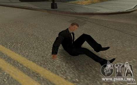 Agente 007 para GTA San Andreas octavo de pantalla