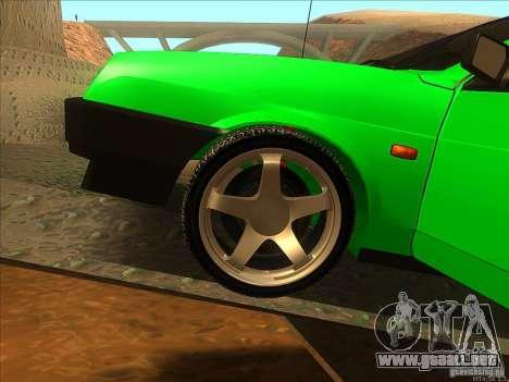VAZ 2109 invierno para visión interna GTA San Andreas