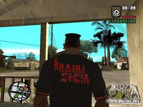 Rammstein camiseta v2 para GTA San Andreas segunda pantalla