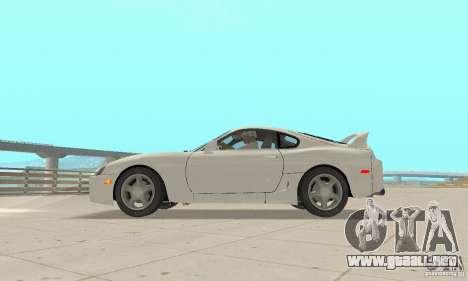Toyota Supra 1998 stock para la visión correcta GTA San Andreas