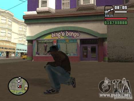 Blue Nike Air Force para GTA San Andreas tercera pantalla