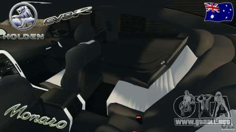 Holden Monaro CV8-R para GTA 4 vista interior