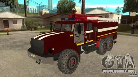 Ural 43206 bombero para GTA San Andreas