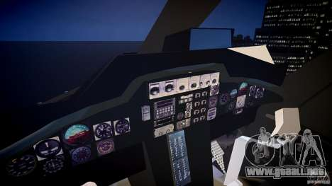 Airwolf v1.0 para GTA 4 vista hacia atrás