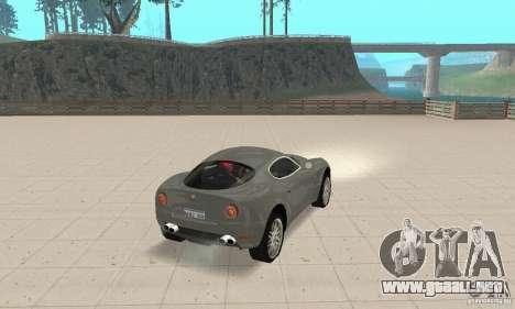 Alfa Romeo 8 c Competizione stock para vista lateral GTA San Andreas