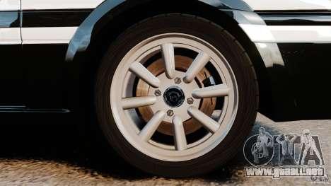 Toyota Sprinter Trueno GT 1985 Apex [EPM] para GTA 4 vista hacia atrás