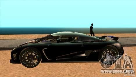 Koenigsegg Agera 2010 para GTA San Andreas left