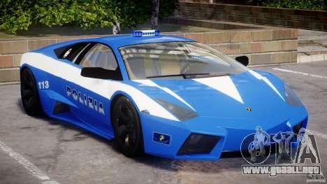 Lamborghini Reventon Polizia Italiana para GTA 4 left
