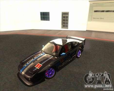Nissan 240SX for drift para GTA San Andreas vista posterior izquierda