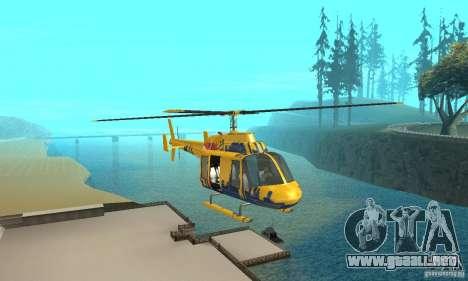 El helicóptero de consejos de gta 4 para GTA San Andreas vista hacia atrás