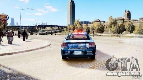 POLICIA FEDERAL MEXICO DODGE CHARGER ELS para GTA 4 Vista posterior izquierda