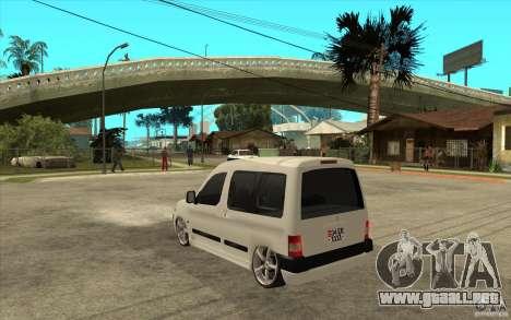 Citroen Berlingo 2007 para GTA San Andreas vista posterior izquierda