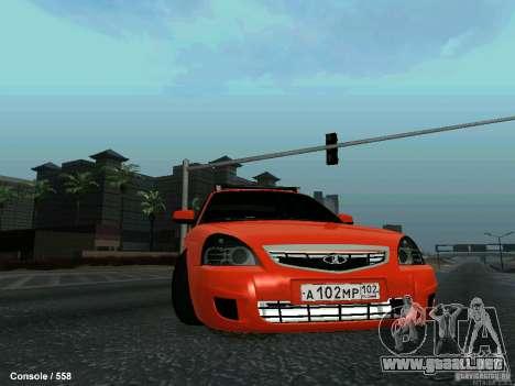 LADA 2170 102-RUS para vista lateral GTA San Andreas