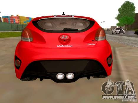Hyundai Veloster Turbo v1.0 para GTA San Andreas vista posterior izquierda