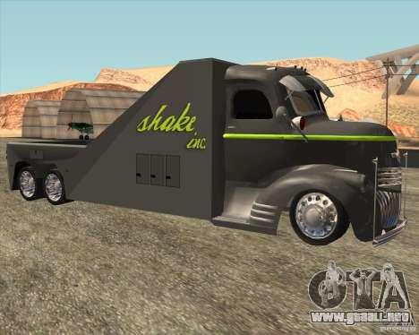 1946 COE Chevy SHAKE Inc para GTA San Andreas left