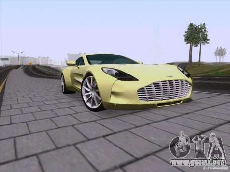 Aston Martin One-77 2010 para vista lateral GTA San Andreas