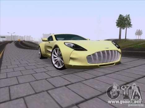 Aston Martin One-77 2010 para vista lateral GTA San Andreas