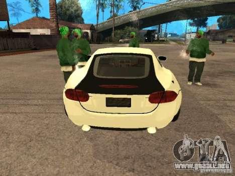 Jaguar XK para GTA San Andreas vista hacia atrás