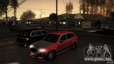 BMW X5 with Wagon BEAM Tuning para vista lateral GTA San Andreas