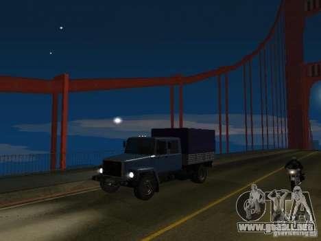 GAZ 3309 Huntsman para GTA San Andreas vista hacia atrás