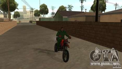 Motocicleta Mirabal para GTA San Andreas left