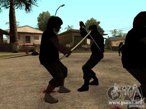 La lucha con las katanas en Grove Street para GTA San Andreas tercera pantalla