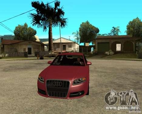 Audi S4 tunable para GTA San Andreas vista hacia atrás