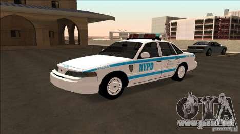 Ford Crown Victoria 1992 NYPD para GTA San Andreas