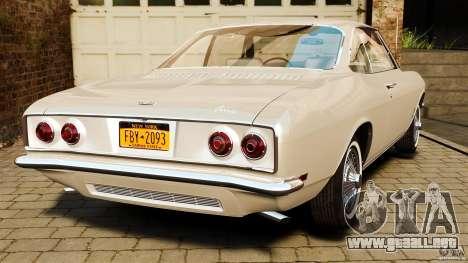 Chevrolet Corvair Monza 1969 para GTA 4 Vista posterior izquierda