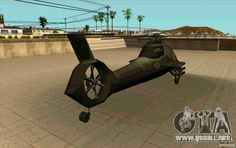 Sikorsky RAH-66 Comanche stealth green para GTA San Andreas vista hacia atrás