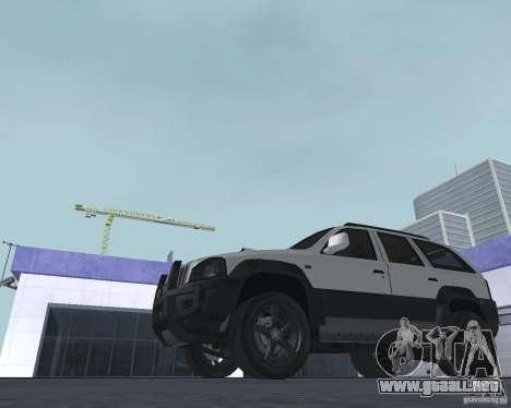SUV de NFS para GTA San Andreas vista posterior izquierda