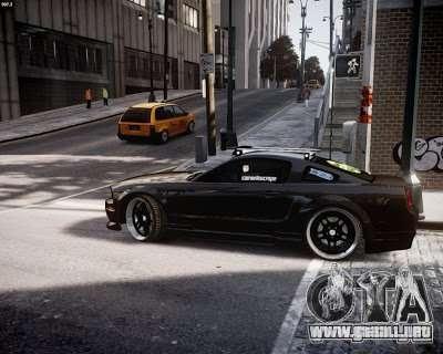 Ford Mustang GT Lowlife para GTA 4 Vista posterior izquierda