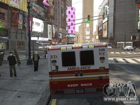 Chevrolet Ambulance FDNY v1.3 para GTA 4 Vista posterior izquierda
