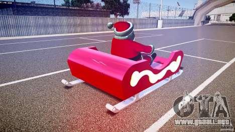 Santa Sled normal version para GTA 4 vista lateral