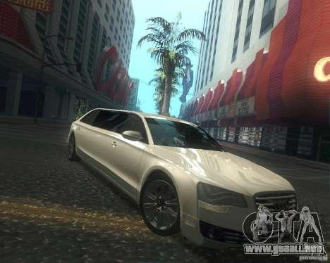 Audi A8 2011 Limo para visión interna GTA San Andreas