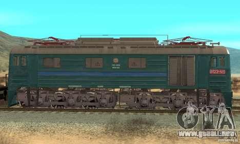 Locomotora VL23-419 para GTA San Andreas vista posterior izquierda