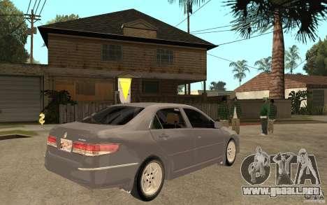 Honda Accord 2004 v2 para la visión correcta GTA San Andreas