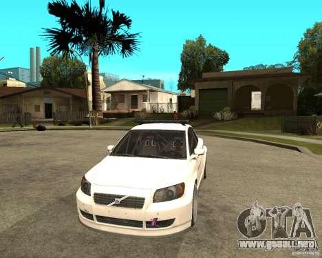 VOLVO C30 SAFETY CAR STCC v2.0 para GTA San Andreas vista hacia atrás