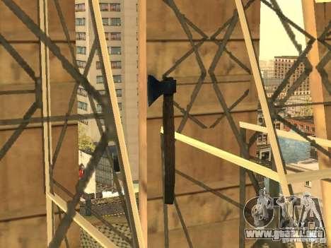 Hacha para GTA San Andreas segunda pantalla