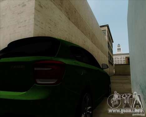 BMW M135i V1.0 2013 para visión interna GTA San Andreas
