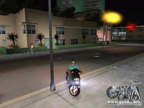PIAGGIO NRG MC3 para GTA Vice City visión correcta